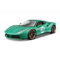 """Ferrari 70th Anniversary 488 GTB """"The Green Jewel"""" 1:18 Edição Limitada"""