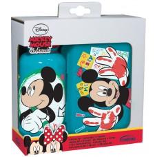 Garrafa e lancheira Mickey