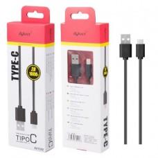 Cabo USB/Tipo C 1m 2A preto