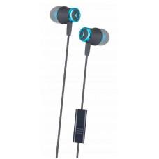 Auriculares IN-EAR silicone com microfone AZUL