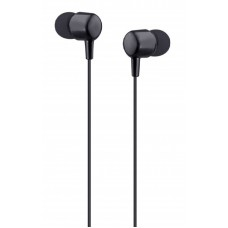 Auriculares com microfone preto