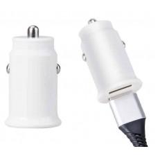Adaptador auto 2 USB 2A ECO preto/branco