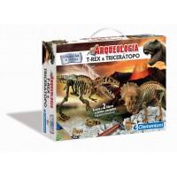 Arqueologia T-REX e TRICERATOPO