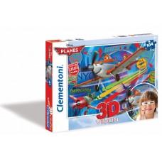 Puzzle 104 3D PLANES