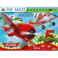 "Puzzle 104 maxi PLANES ""Faster, Dusty!"""