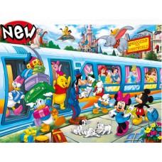 Puzzle 104 maxi Disney family