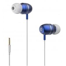Auriculares IN-EAR HP com controlo de volume azul