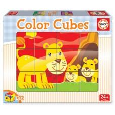 Cubos coloridos Animais e suas crias