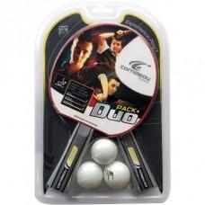 Conjunto de 2 raquetes e 3 bolas CORNILLEAU DUO